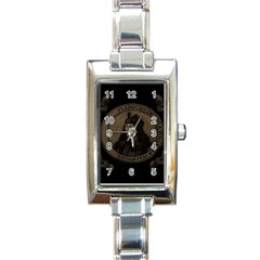 Count Vlad Dracula Rectangle Italian Charm Watch