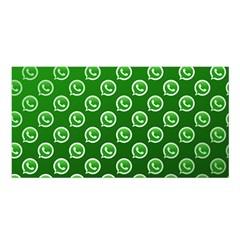 Whatsapp Logo Pattern Satin Shawl