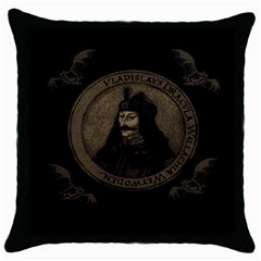 Count Vlad Dracula Throw Pillow Case (Black)