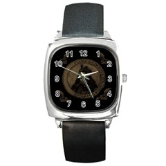 Count Vlad Dracula Square Metal Watch