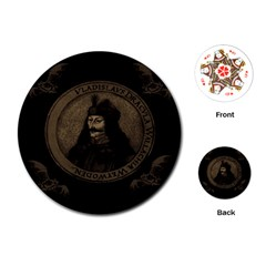 Count Vlad Dracula Playing Cards (Round)