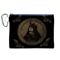 Count Vlad Dracula Canvas Cosmetic Bag (XL)