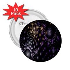 Fractal Patterns Dark Circles 2 25  Buttons (10 Pack)
