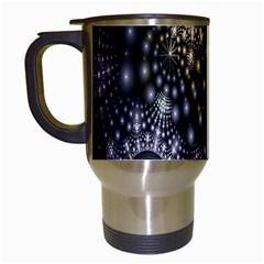 Fractal Patterns Dark Circles Travel Mugs (White)