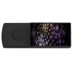 Fractal Patterns Dark Circles Usb Flash Drive Rectangular (4 Gb)