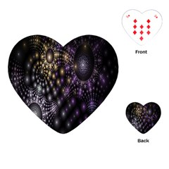 Fractal Patterns Dark Circles Playing Cards (Heart)