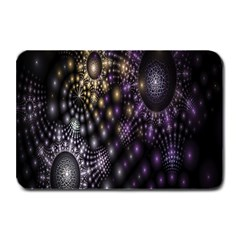 Fractal Patterns Dark Circles Plate Mats