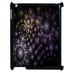 Fractal Patterns Dark Circles Apple iPad 2 Case (Black)