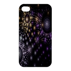 Fractal Patterns Dark Circles Apple iPhone 4/4S Premium Hardshell Case