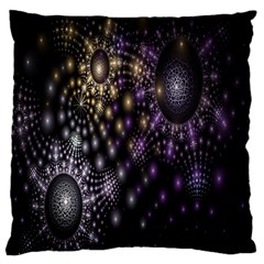 Fractal Patterns Dark Circles Large Cushion Case (One Side)