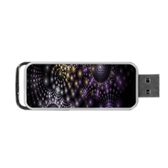 Fractal Patterns Dark Circles Portable USB Flash (One Side)