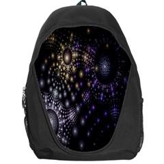 Fractal Patterns Dark Circles Backpack Bag