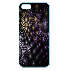 Fractal Patterns Dark Circles Apple Seamless iPhone 5 Case (Color)