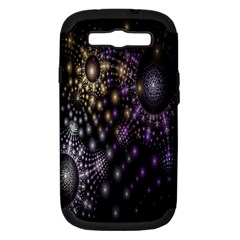 Fractal Patterns Dark Circles Samsung Galaxy S III Hardshell Case (PC+Silicone)