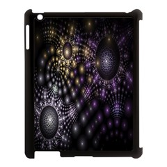 Fractal Patterns Dark Circles Apple iPad 3/4 Case (Black)
