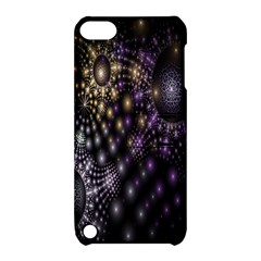 Fractal Patterns Dark Circles Apple iPod Touch 5 Hardshell Case with Stand