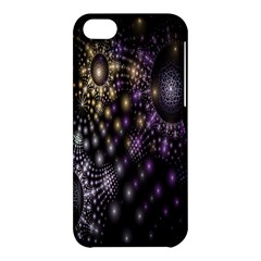 Fractal Patterns Dark Circles Apple iPhone 5C Hardshell Case
