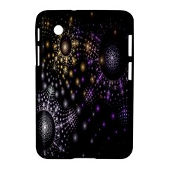 Fractal Patterns Dark Circles Samsung Galaxy Tab 2 (7 ) P3100 Hardshell Case