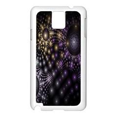 Fractal Patterns Dark Circles Samsung Galaxy Note 3 N9005 Case (White)