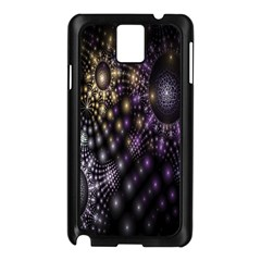 Fractal Patterns Dark Circles Samsung Galaxy Note 3 N9005 Case (Black)