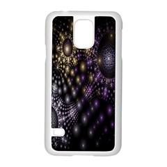 Fractal Patterns Dark Circles Samsung Galaxy S5 Case (White)