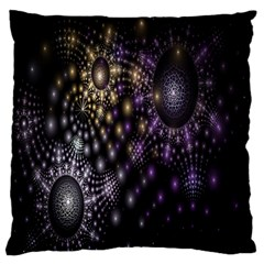 Fractal Patterns Dark Circles Large Flano Cushion Case (Two Sides)