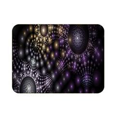 Fractal Patterns Dark Circles Double Sided Flano Blanket (Mini)