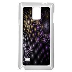 Fractal Patterns Dark Circles Samsung Galaxy Note 4 Case (white)