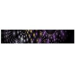 Fractal Patterns Dark Circles Flano Scarf (Large)