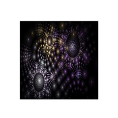 Fractal Patterns Dark Circles Satin Bandana Scarf