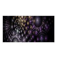 Fractal Patterns Dark Circles Satin Shawl