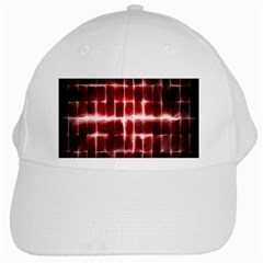 Electric Lines Pattern White Cap