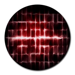 Electric Lines Pattern Round Mousepads
