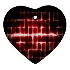 Electric Lines Pattern Ornament (heart)