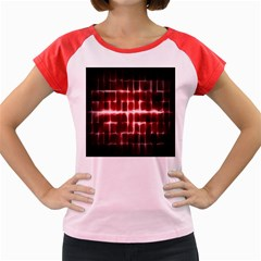 Electric Lines Pattern Women s Cap Sleeve T-Shirt