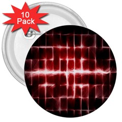 Electric Lines Pattern 3  Buttons (10 Pack)
