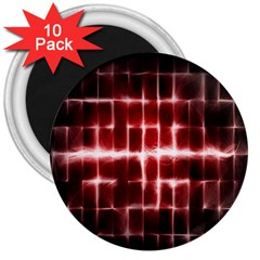 Electric Lines Pattern 3  Magnets (10 Pack)