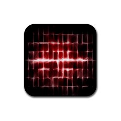 Electric Lines Pattern Rubber Coaster (square)