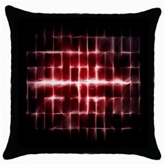 Electric Lines Pattern Throw Pillow Case (Black)