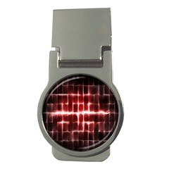 Electric Lines Pattern Money Clips (Round)