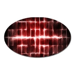 Electric Lines Pattern Oval Magnet