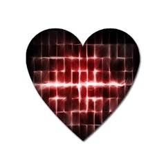 Electric Lines Pattern Heart Magnet