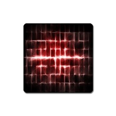 Electric Lines Pattern Square Magnet