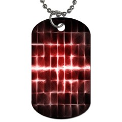Electric Lines Pattern Dog Tag (One Side)