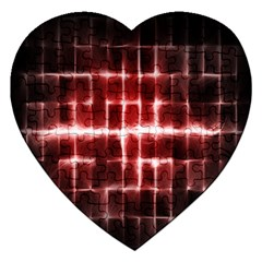 Electric Lines Pattern Jigsaw Puzzle (heart)