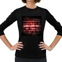 Electric Lines Pattern Women s Long Sleeve Dark T-Shirts