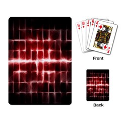 Electric Lines Pattern Playing Card