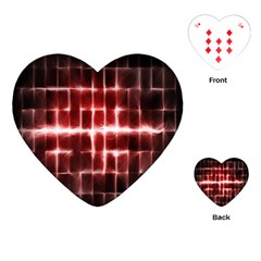 Electric Lines Pattern Playing Cards (Heart)