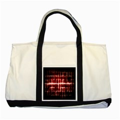 Electric Lines Pattern Two Tone Tote Bag