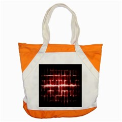 Electric Lines Pattern Accent Tote Bag